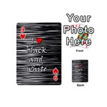 I love black and white 2 Playing Cards 54 (Mini)  Front - Heart9