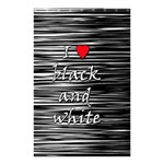 I love black and white 2 Shower Curtain 48  x 72  (Small)  42.18 x64.8 Curtain
