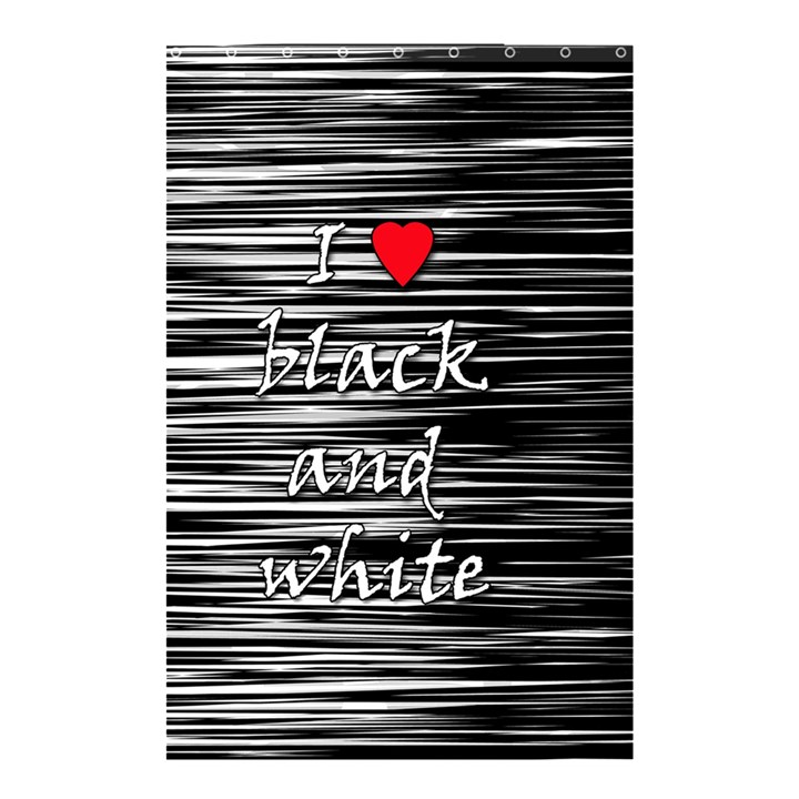 I love black and white 2 Shower Curtain 48  x 72  (Small)