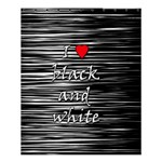 I love black and white 2 Shower Curtain 60  x 72  (Medium)  54.25 x65.71 Curtain