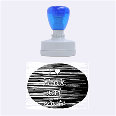 I love black and white 2 Rubber Oval Stamps