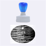 I love black and white 2 Rubber Oval Stamps 1.88 x1.37  Stamp