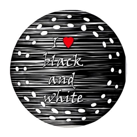 I love black and white 2 Ornament (Round Filigree)