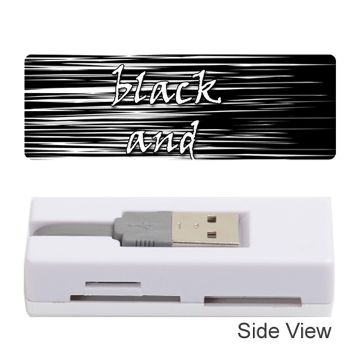 I love black and white 2 Memory Card Reader (Stick)