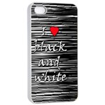 I love black and white 2 Apple iPhone 4/4s Seamless Case (White) Front
