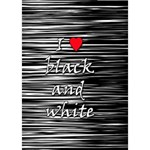 I love black and white 2 BOY 3D Greeting Card (7x5) Inside