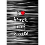 I love black and white 2 Heart 3D Greeting Card (7x5) Inside