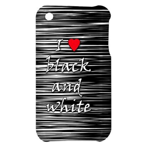 I love black and white 2 Apple iPhone 3G/3GS Hardshell Case