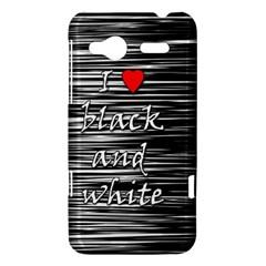I love black and white 2 HTC Radar Hardshell Case