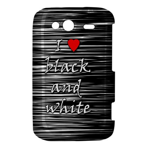 I love black and white 2 HTC Wildfire S A510e Hardshell Case