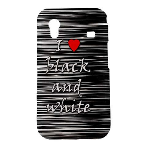 I love black and white 2 Samsung Galaxy Ace S5830 Hardshell Case