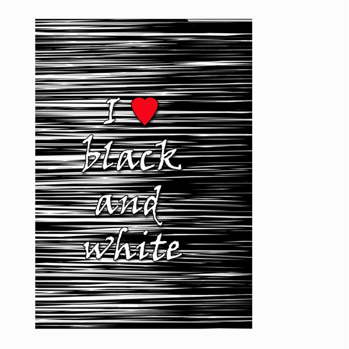 I love black and white 2 Large Garden Flag (Two Sides)