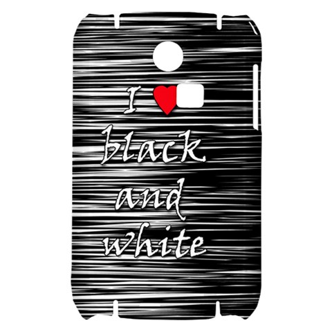I love black and white 2 Samsung S3350 Hardshell Case