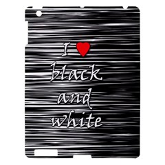 I love black and white 2 Apple iPad 3/4 Hardshell Case