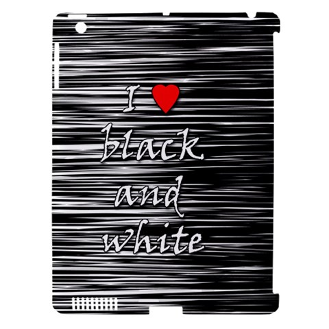 I love black and white 2 Apple iPad 3/4 Hardshell Case (Compatible with Smart Cover)