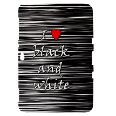 I love black and white 2 Samsung Galaxy Tab 8.9  P7300 Hardshell Case
