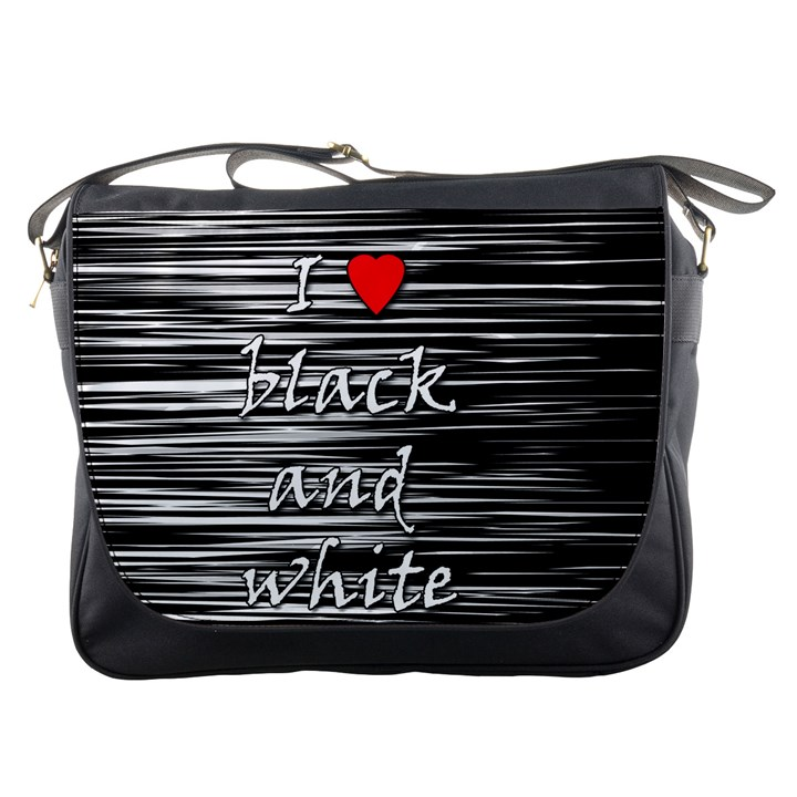 I love black and white 2 Messenger Bags