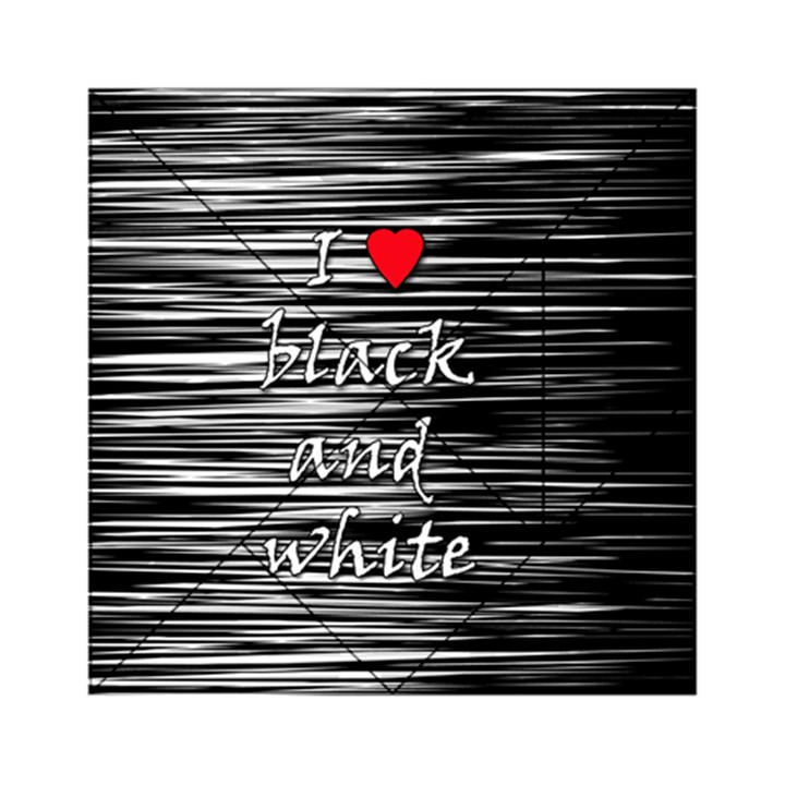 I love black and white 2 Acrylic Tangram Puzzle (6  x 6 )