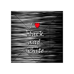 I love black and white 2 Acrylic Tangram Puzzle (4  x 4 )