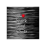 I love black and white 2 Acrylic Tangram Puzzle (4  x 4 ) Front