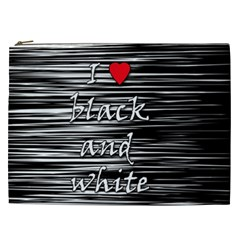 I Love Black And White 2 Cosmetic Bag (xxl)