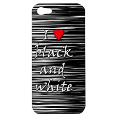 I love black and white 2 Apple iPhone 5 Hardshell Case