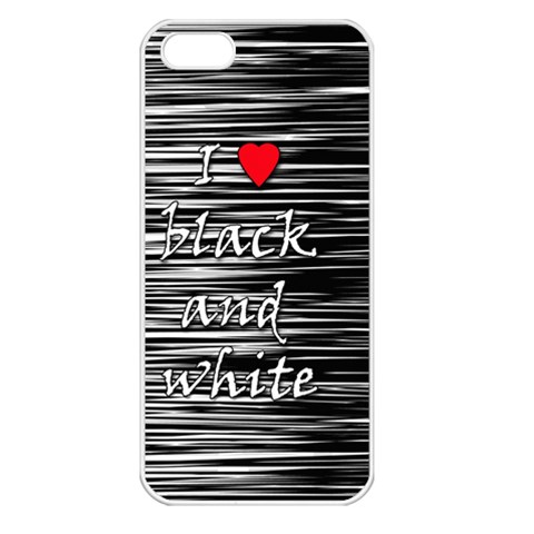 I love black and white 2 Apple iPhone 5 Seamless Case (White)