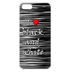 I love black and white 2 Apple iPhone 5 Seamless Case (White) Front