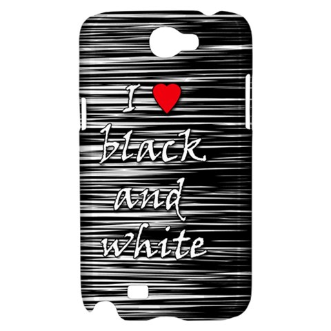 I love black and white 2 Samsung Galaxy Note 2 Hardshell Case