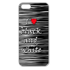 I love black and white 2 Apple Seamless iPhone 5 Case (Clear)