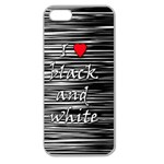 I love black and white 2 Apple Seamless iPhone 5 Case (Clear) Front