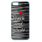 I love black and white 2 Apple Seamless iPhone 5 Case (Color) Front