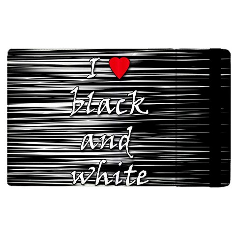 I love black and white 2 Apple iPad 3/4 Flip Case