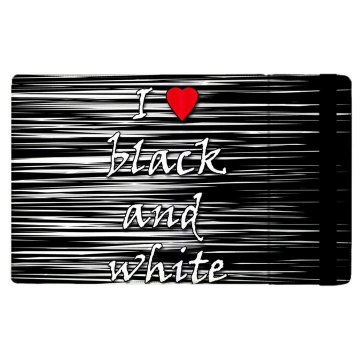 I love black and white 2 Apple iPad 3/4 Flip Case