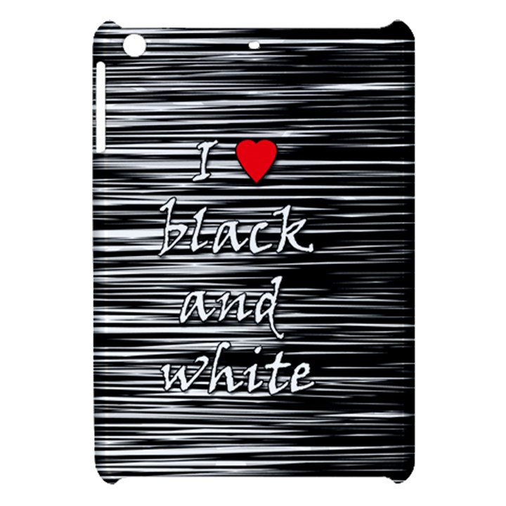 I love black and white 2 Apple iPad Mini Hardshell Case