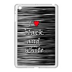 I love black and white 2 Apple iPad Mini Case (White) Front