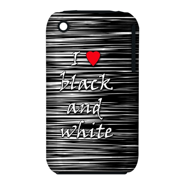 I love black and white 2 Apple iPhone 3G/3GS Hardshell Case (PC+Silicone)