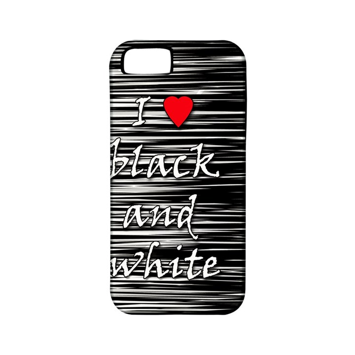 I love black and white 2 Apple iPhone 5 Classic Hardshell Case (PC+Silicone)