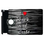 I love black and white 2 Apple iPad 3/4 Flip 360 Case Front