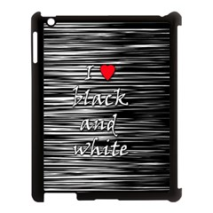 I love black and white 2 Apple iPad 3/4 Case (Black)