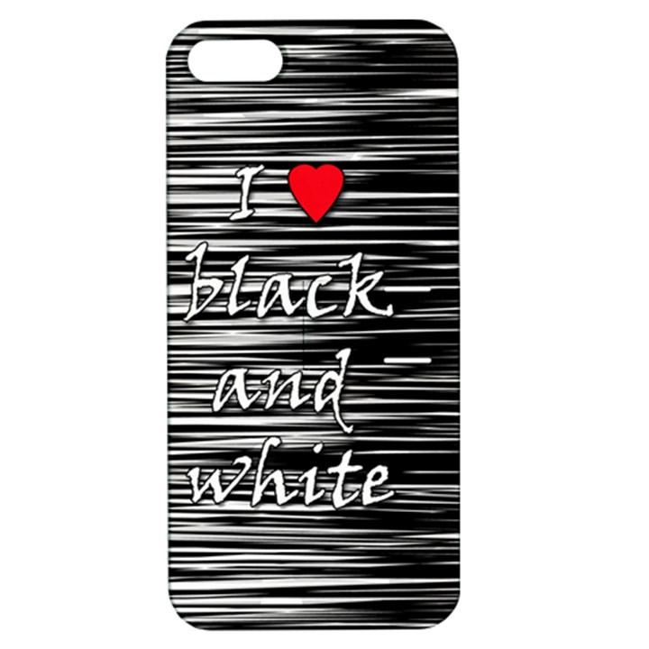 I love black and white 2 Apple iPhone 5 Hardshell Case with Stand