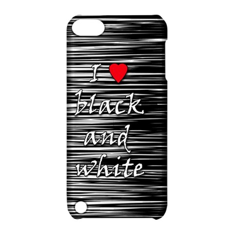 I love black and white 2 Apple iPod Touch 5 Hardshell Case with Stand