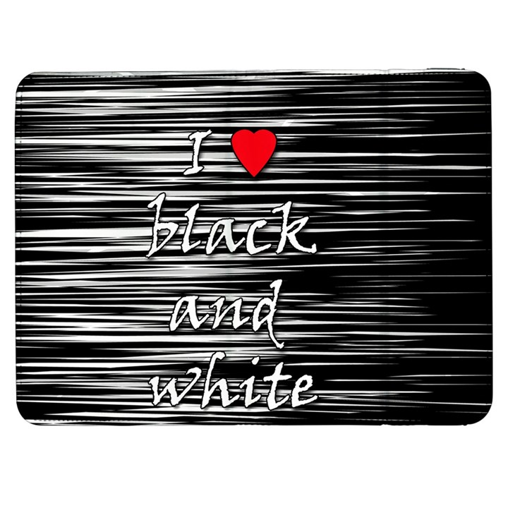 I love black and white 2 Samsung Galaxy Tab 7  P1000 Flip Case