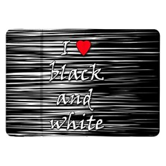 I Love Black And White 2 Samsung Galaxy Tab 8 9  P7300 Flip Case