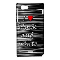 I love black and white 2 Sony Xperia J