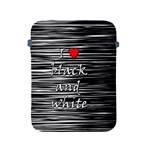 I love black and white 2 Apple iPad 2/3/4 Protective Soft Cases Front