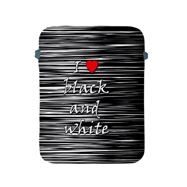 I love black and white 2 Apple iPad 2/3/4 Protective Soft Cases