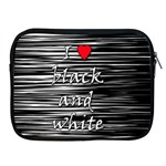 I love black and white 2 Apple iPad 2/3/4 Zipper Cases Front