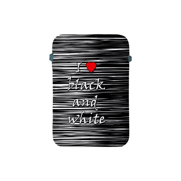 I love black and white 2 Apple iPad Mini Protective Soft Cases