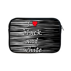 I love black and white 2 Apple iPad Mini Zipper Cases
